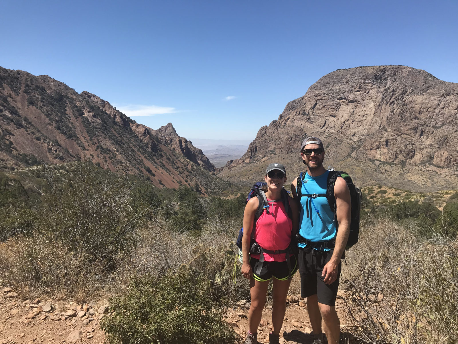 Hiking in the Chisos Mountains