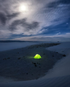 Camping in White Sands