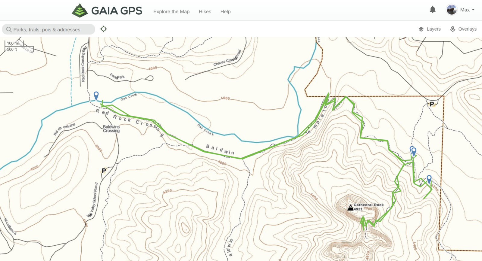 Gaia Route to Cathedral Rock